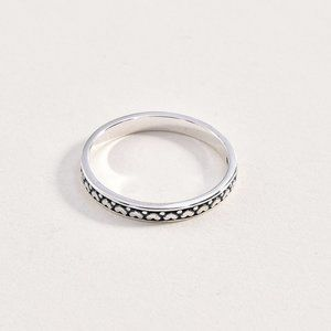 Sterling 925 Heart Band Ring